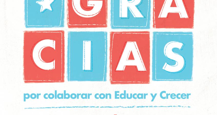Gracias - 5ta. Cena Solidaria - Educar y Crecer